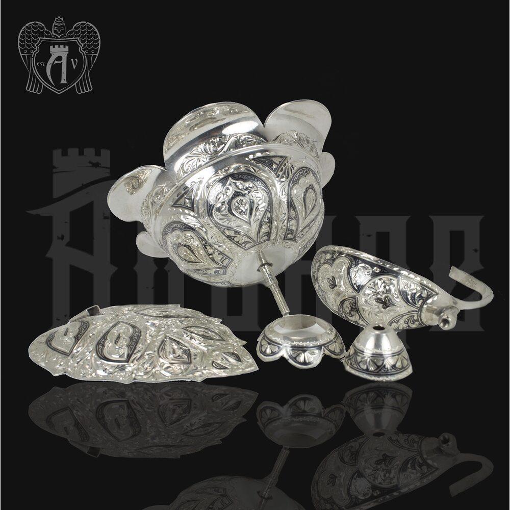 Серебряная ваза для конфет или фруктов «Розалия» Апанде, 520042112