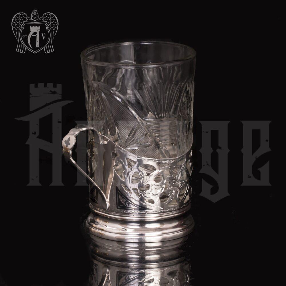 Подстаканник серебряный «Корона» Апанде, 880001