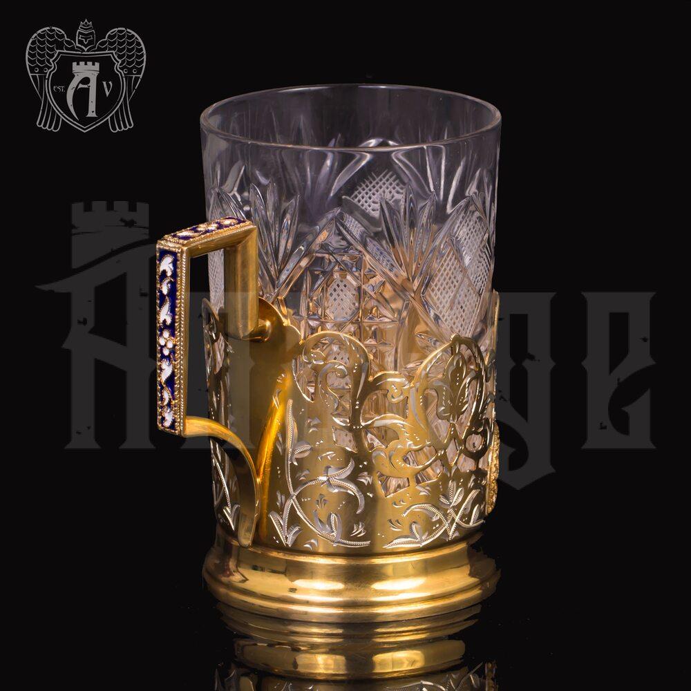 Подстаканник с эмалью «Богемия» Апанде, 88000813