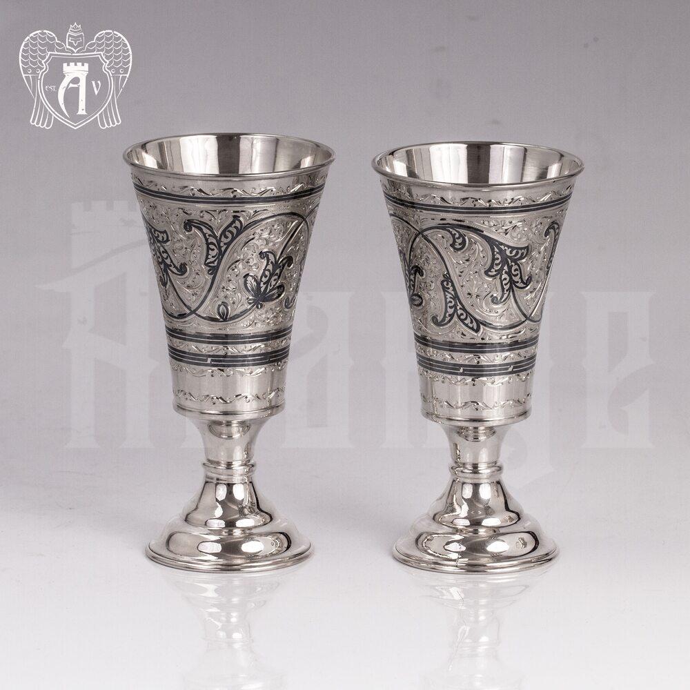 Серебряный стакан «Краса Востока» Апанде, 7100056