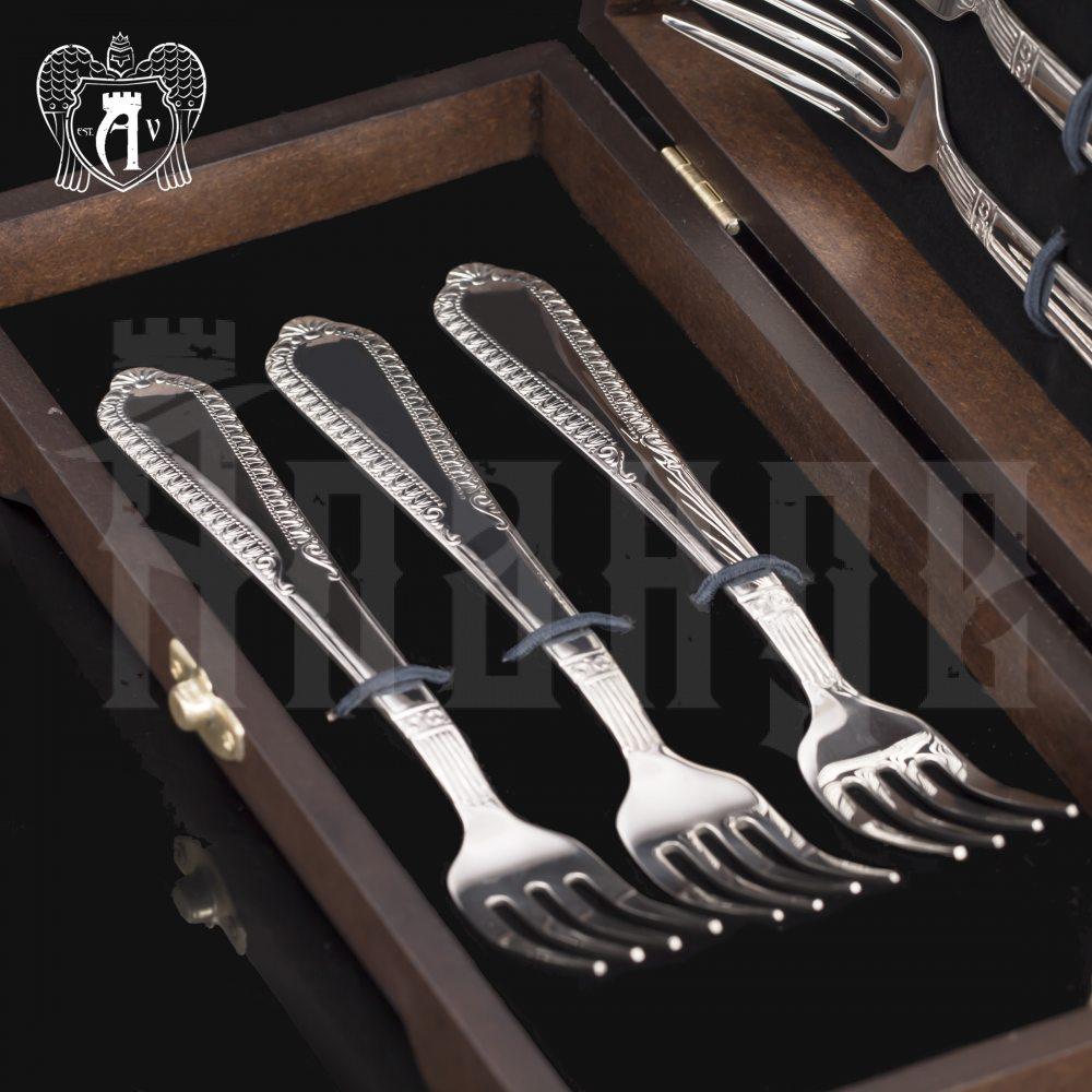 Серебряные вилки «Снежная королева» 6 шт Апанде, 29000212-6