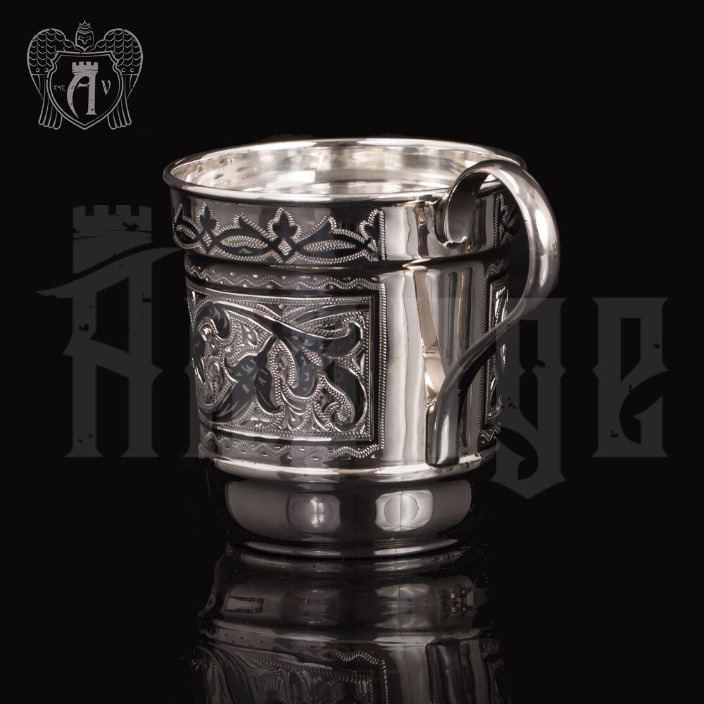 Серебряная чашка с ручкой «Фордевинд» Апанде, 32009120