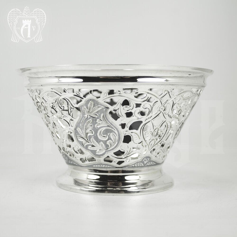 Серебряная сахарница / конфетница «Кубачи» Апанде, 350003141
