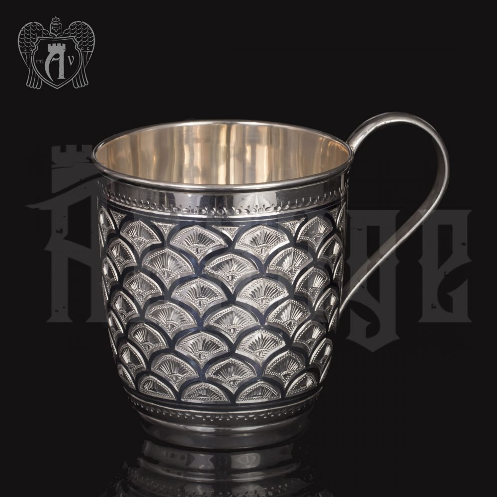 Серебряная чашка для воды «Горы» Апанде, 32009122