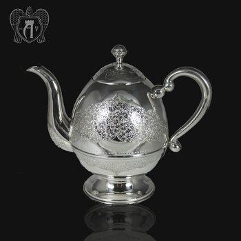 Серебряный заварочный  чайник « Маэстро»