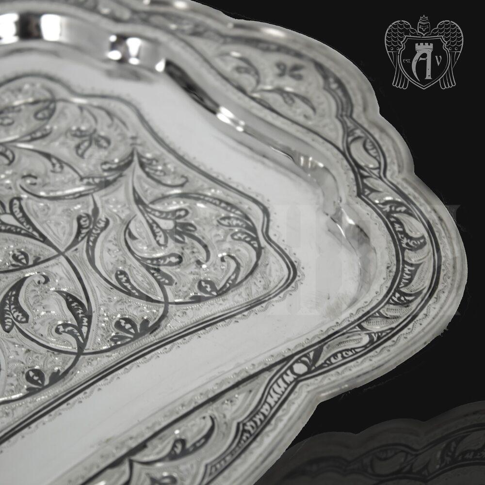 Серебряный поднос «Восточный» Апанде, 770002