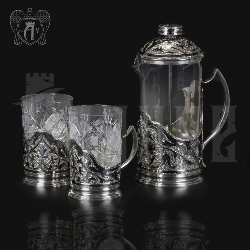 Серебряный набор для чая и кофе «Столичный»  Апанде, 111049250