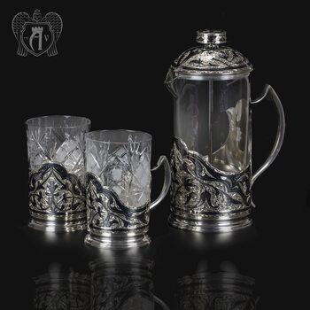 Серебряный набор для чая и кофе «Столичный»