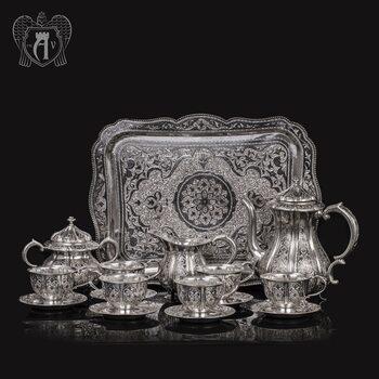Серебряный чайный сервиз «Апанде» 16 предметов