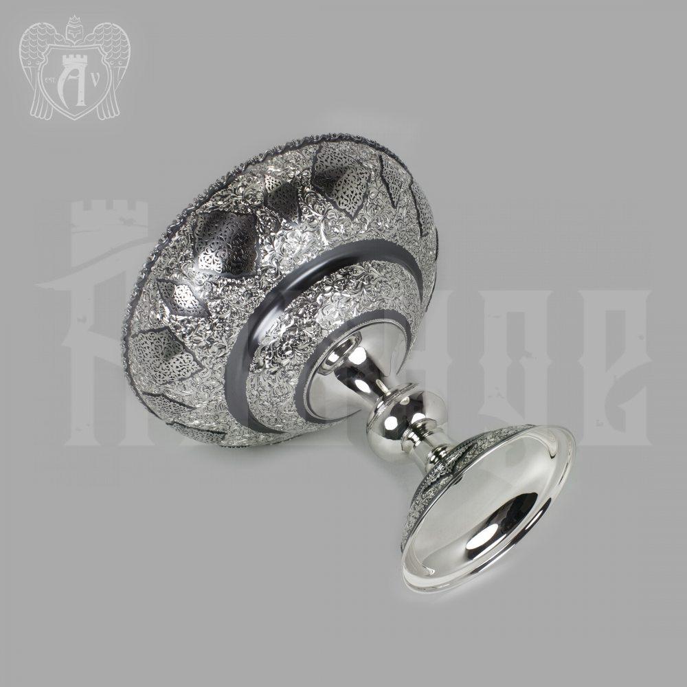 Серебряная ваза для фруктов «Царица»  Апанде, 520004