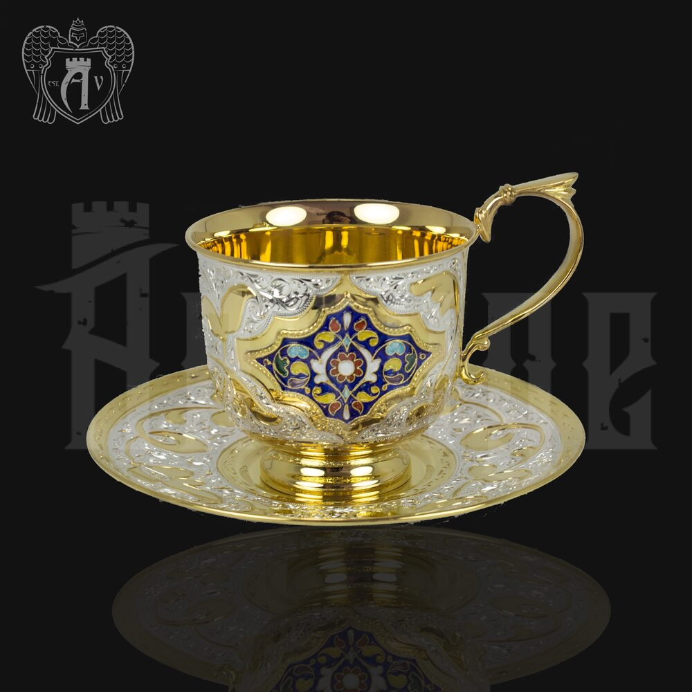 Серебряный сервиз чайный «Королевский» 16  предметов Апанде, 990002