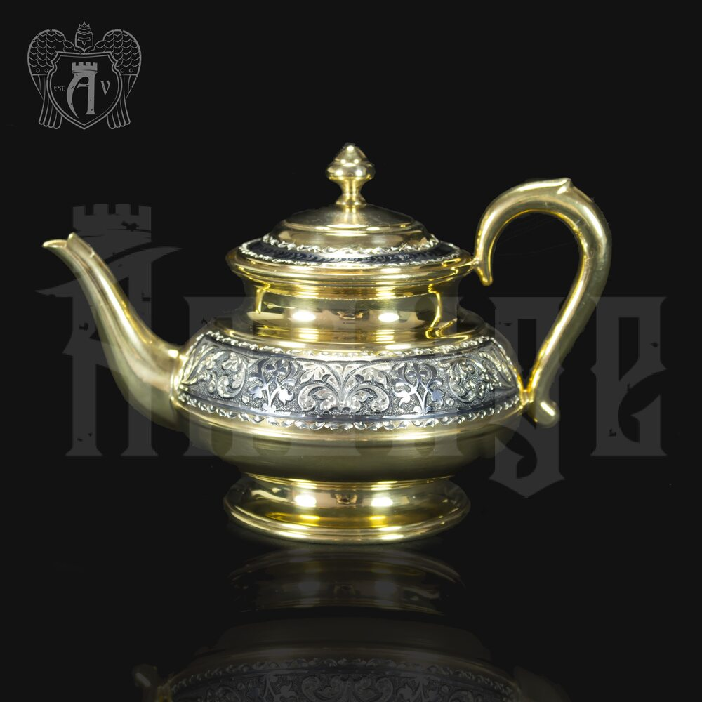 Серебряный чайник «Валенсия» Апанде, 250001353р