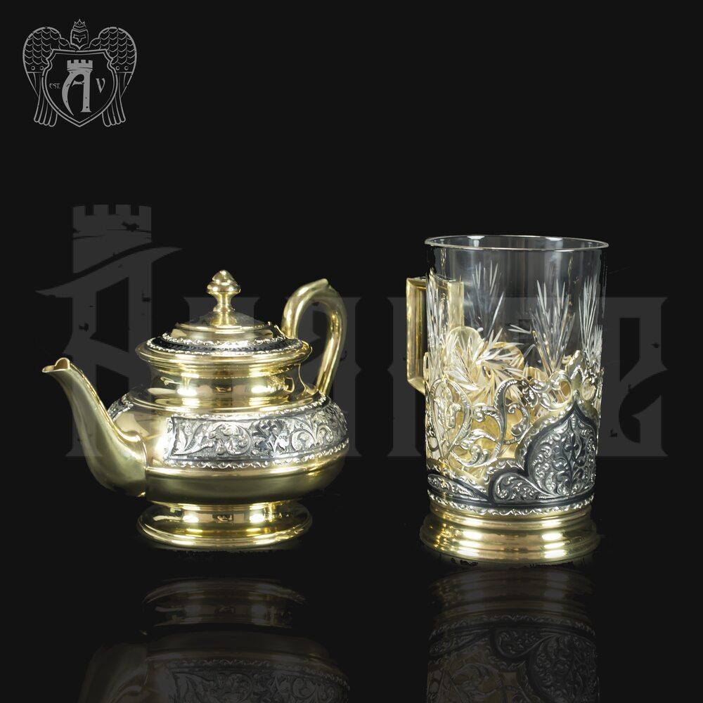 Набор чайный серебряный «Валенсия» Апанде, 111001353р