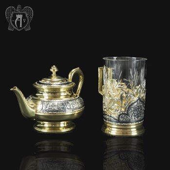 Набор чайный серебряный «Валенсия»