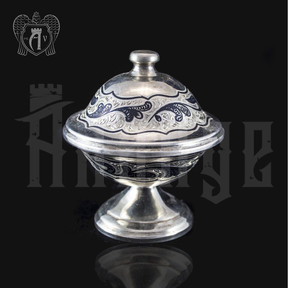 Икорница серебряная «Дар» Апанде, 270003