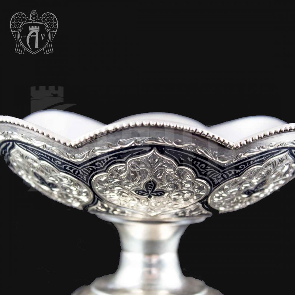 Серебряная ваза для фруктов и сладостей «Милена» Апанде, 520001