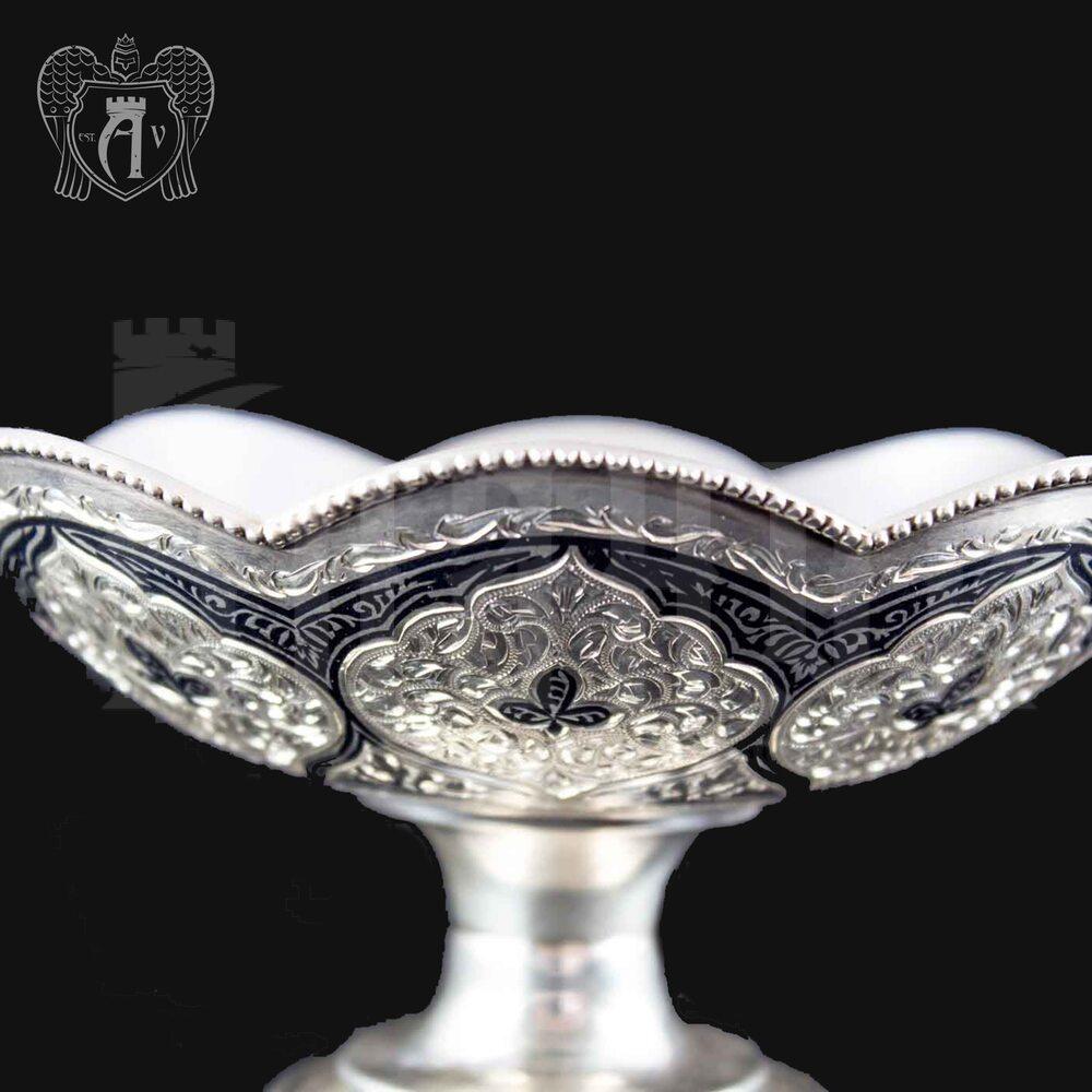 Серебряная ваза для фруктов и сладостей «Восток» Апанде, 520003