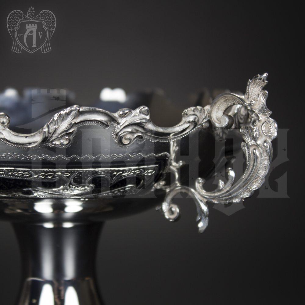 Серебряная ваза для фруктов и сладостей «Валенсия»  Апанде, 350003144