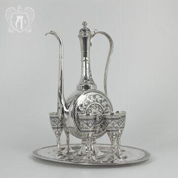 Сервиз серебряный коньячный «Жемчужина Востока»