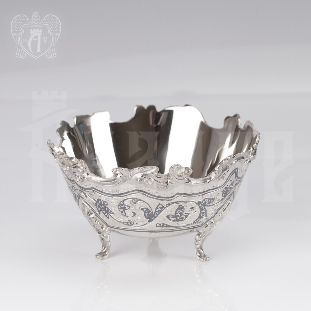 Серебряная сахарница \ вареньица «Вероника» Апанде, 350003142