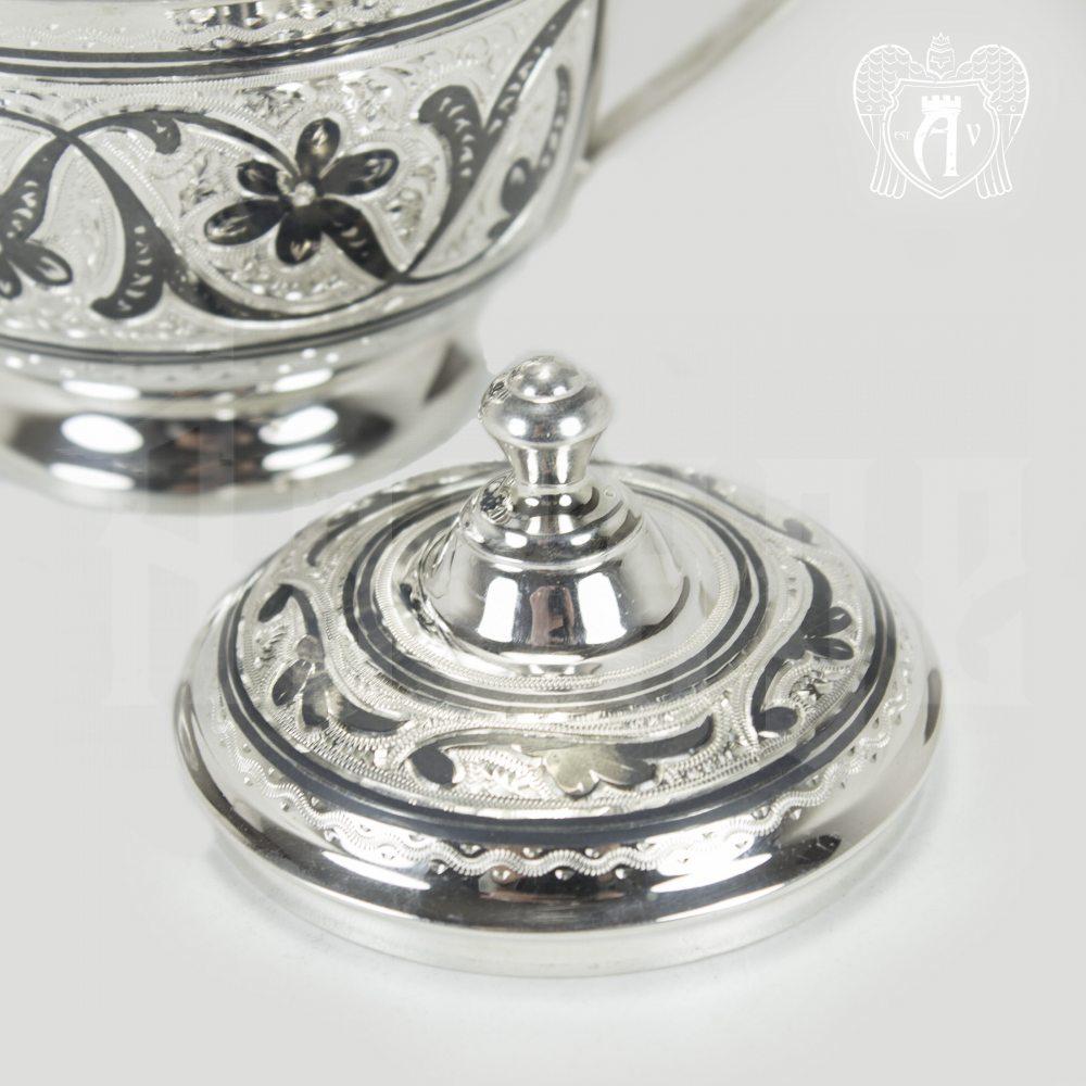 Серебряная сахарница «Аннабель» Апанде, 350003143