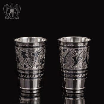 Набор серебряных стаканов «Цитадель»