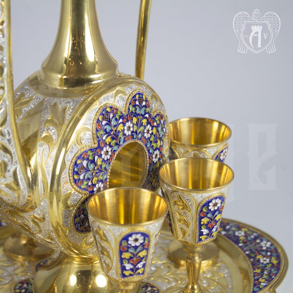 Серебряный сервиз для коньяка» Арабский» Апанде,  11100549