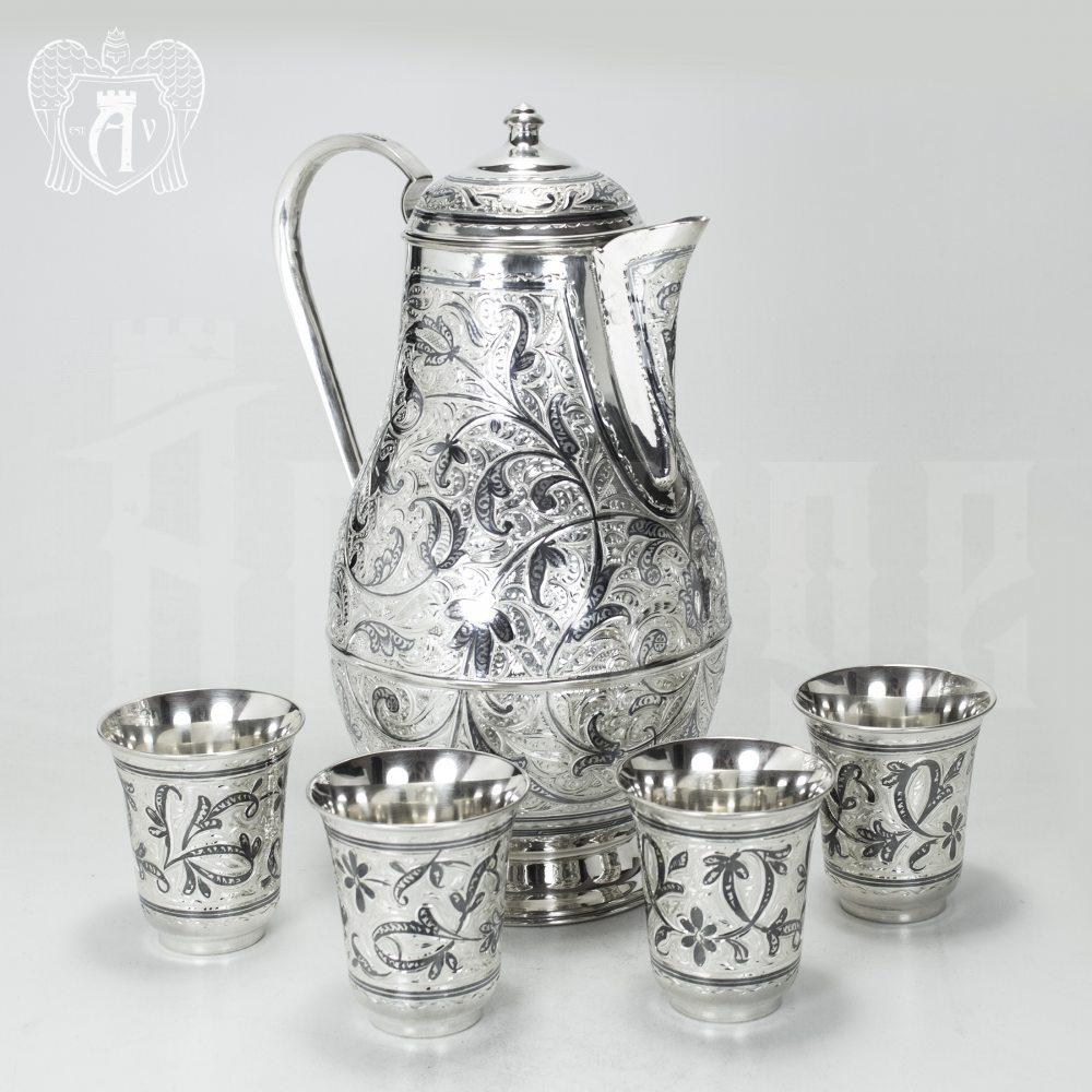 Серебряный сервиз для воды и напитков «Изабелла» Апанде, 11100066
