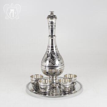 Серебряный сервиз для водки «Боярский»