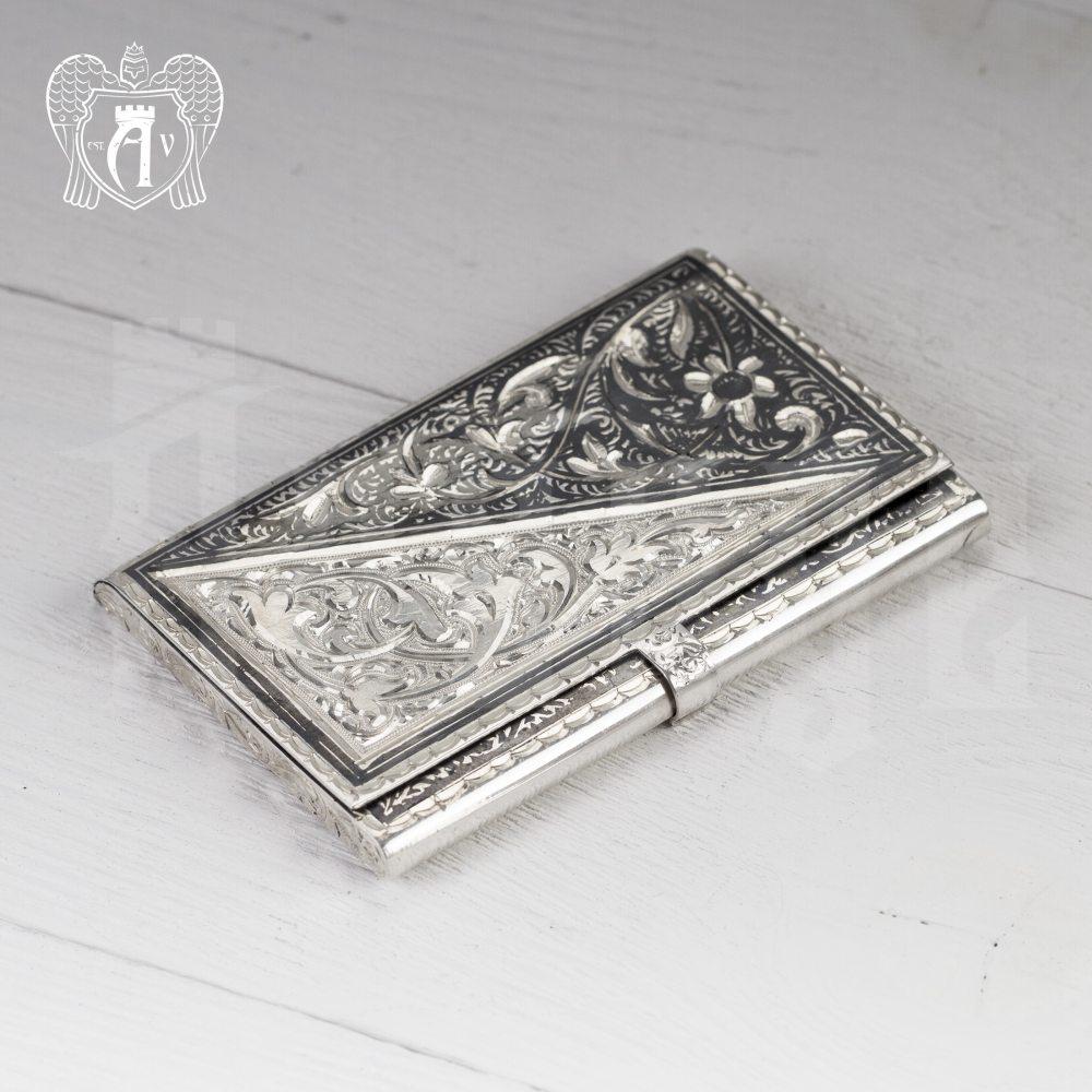 Визитница серебряная и ручка «Дипломат» Апанде, 111003211