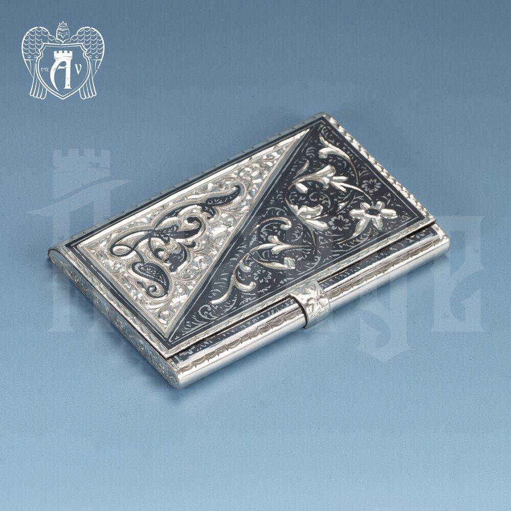 Визитница серебряная «Дипломат» ручной работы Апанде, 91003211