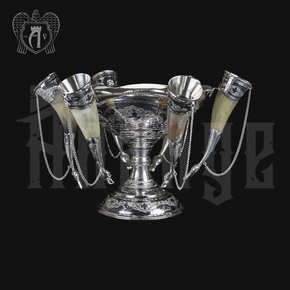 Серебряный набор для вина « Люкс» Апанде, 11100414