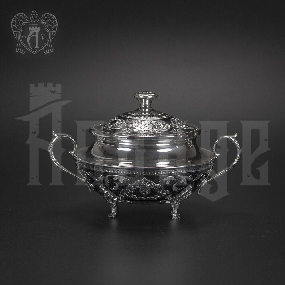 Серебряная сахарница  серия «Аллегро» Апанде, 350003148