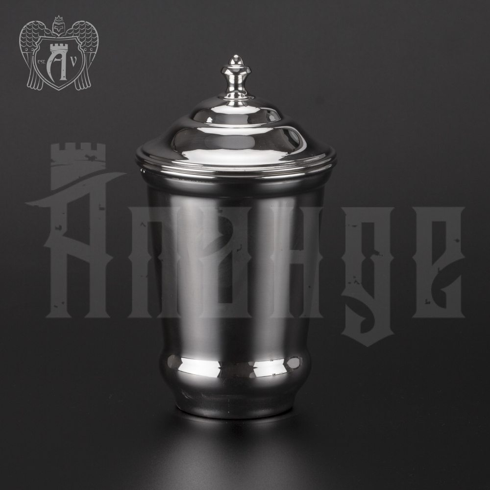 Серебряный стакан «Здоровье» + из чистого серебра 999 пробы Апанде, 71000502