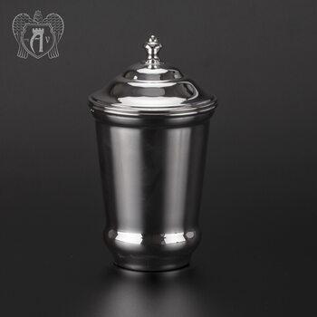 Серебряный стакан «Здоровье» + из чистого серебра 999 пробы