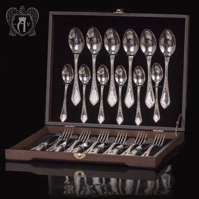 Столовый набор из серебра на 6 персон «Герцогиня» 24 предмета