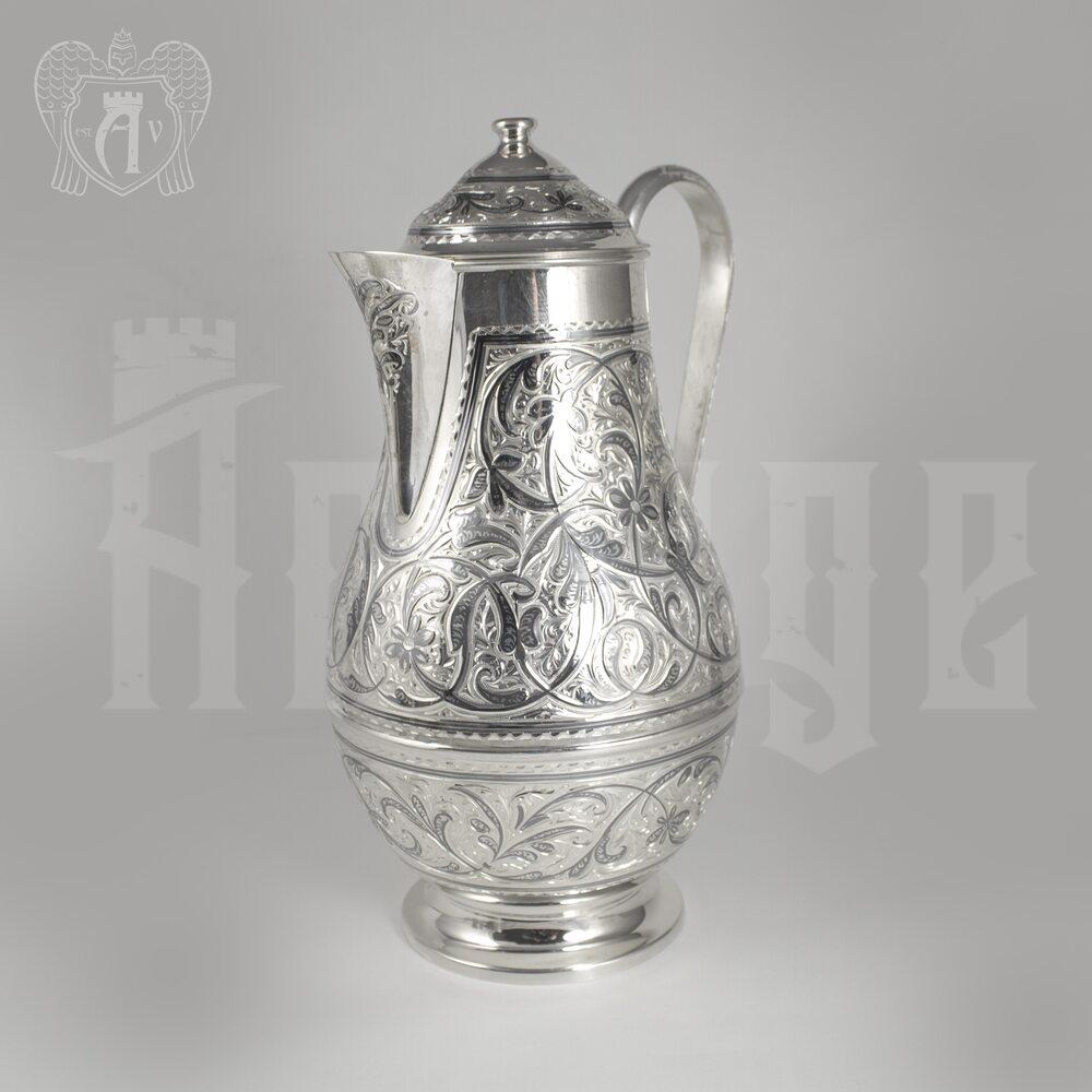 Кувшин из серебра 925 пробы «Кубачинский»  Апанде, 5400044