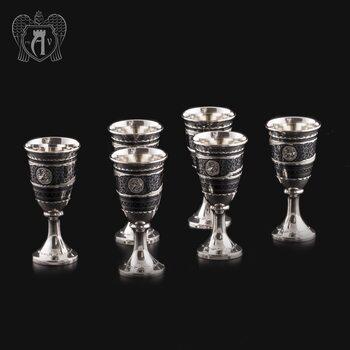 Набор серебряных рюмок «Встреча»