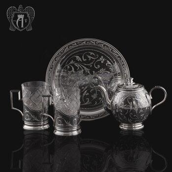 Набор чайный серебряный «Лукреция»
