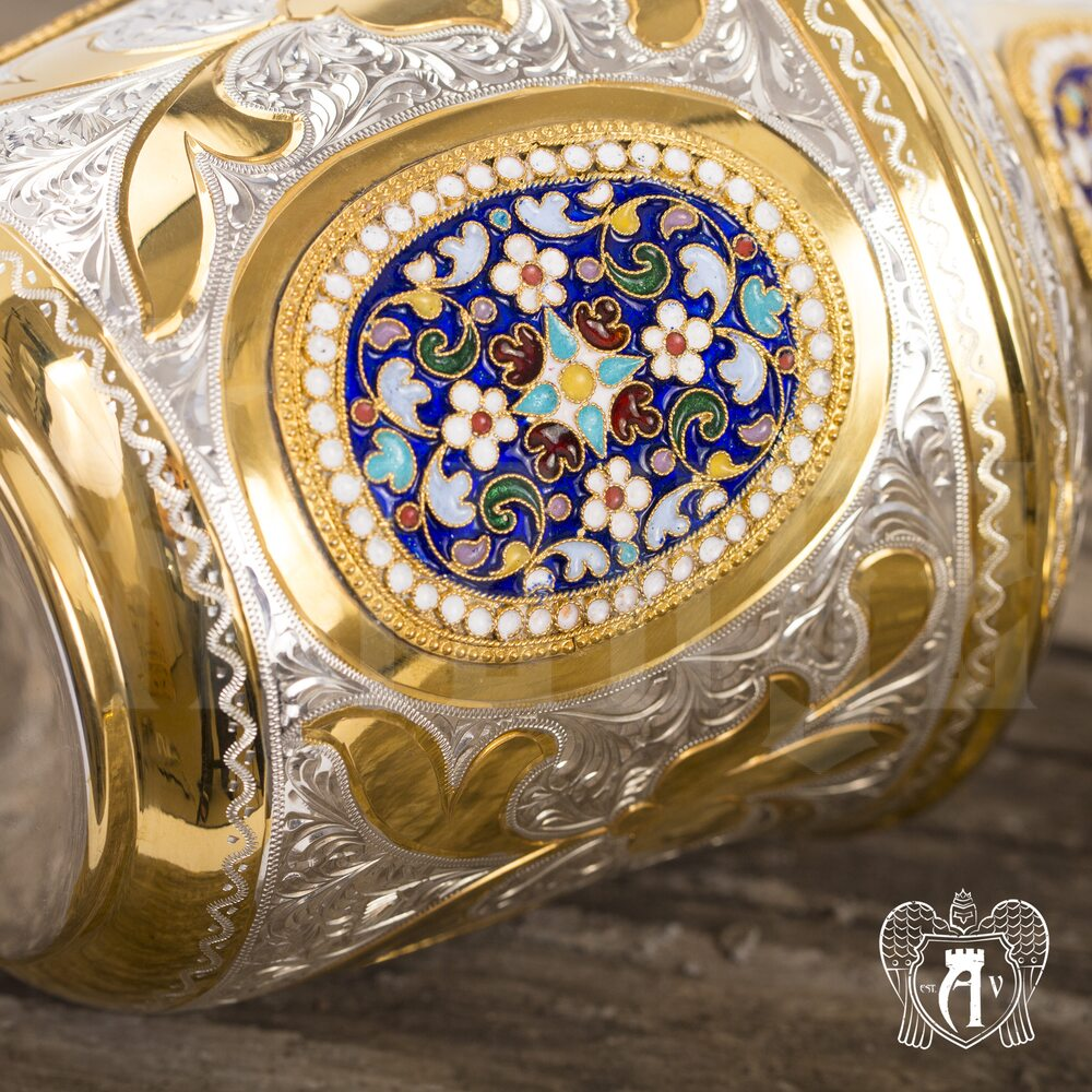 Серебряный коньячный сервиз «Императорский» Апанде, 111005505