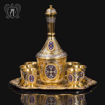 Серебряный коньячный сервиз «Императорский»