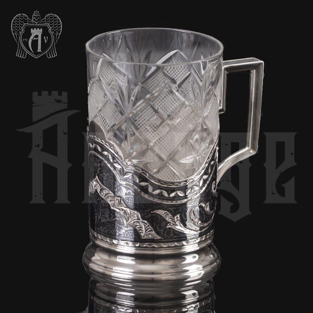 Подстаканник серебряный «Традиция» Апанде, 880032