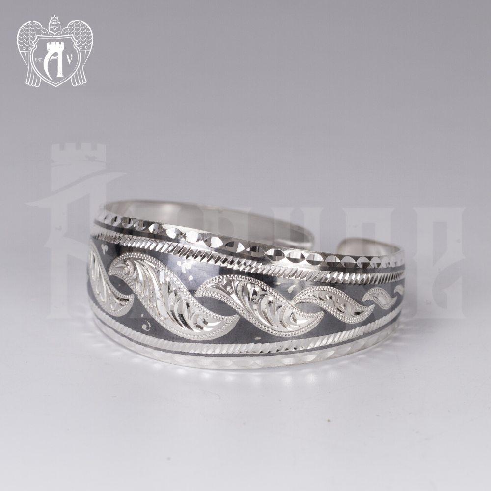 Серебряный кубачинский браслет «Рагнеда» Апанде, 2300042124