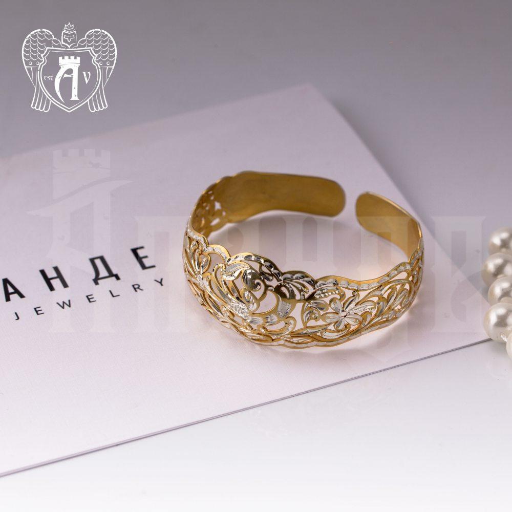 Браслет кубачинский «Фрида» с золочением Апанде, 2300042340