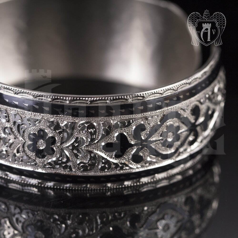 Браслет кубачинский из серебра  «Диана» Апанде, 2300042327
