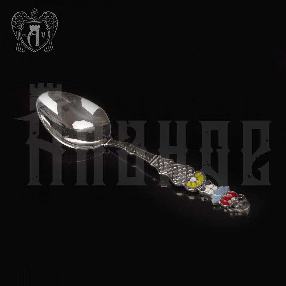 Серебряная чайная ложка с эмалью «Девочка» Апанде, 230001212