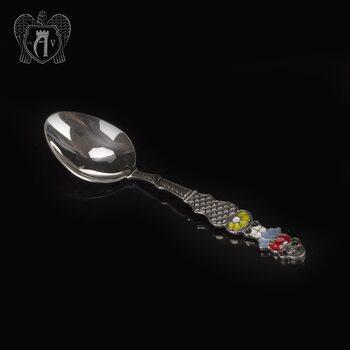 Серебряная чайная ложка с эмалью «Девочка»