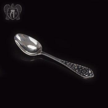 Серебряная чайная ложка  «Кубачинская»