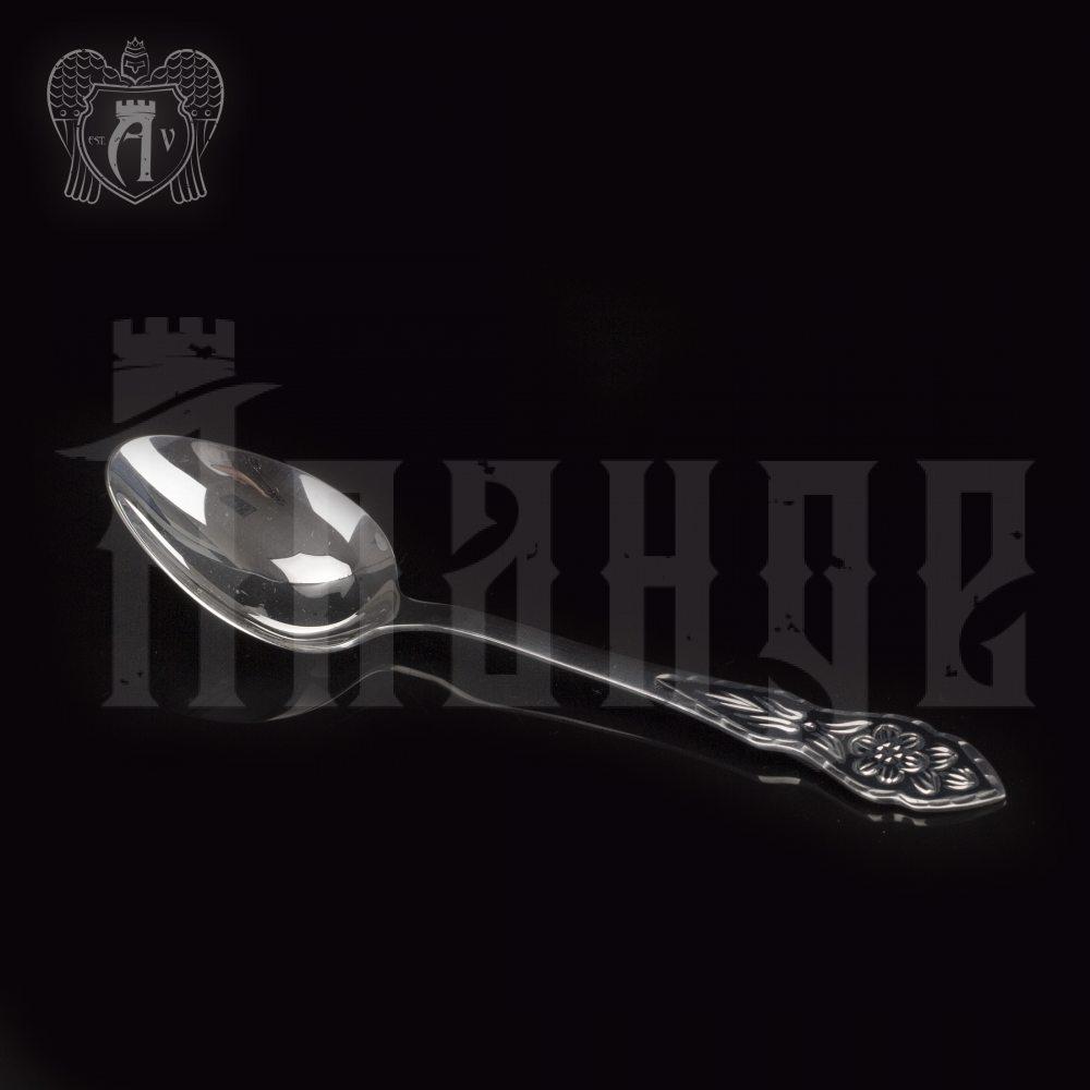 Серебряная чайная ложка  «Цветок» Апанде, 230001226