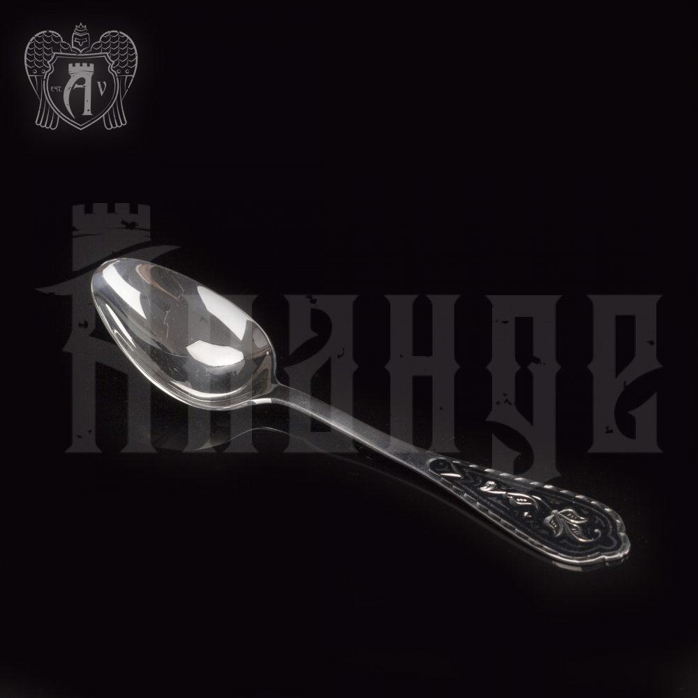 Серебряная чайная ложка  «Мальва» Апанде, 230001230